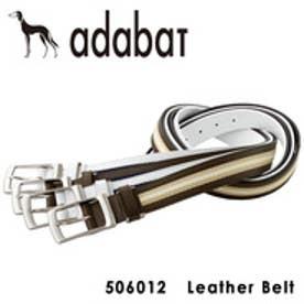 【SAC'S BAR】アダバット adabat ベルト 506012 【17】チョコ/ベージュ/ホワイト
