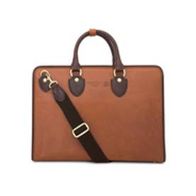 【SAC'S BAR】青木鞄 ブリーフケース 3096 【52】キャメル×チョコ