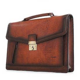 【SAC'S BAR】青木鞄 ブリーフケース 5219 50 ブラウン ブルー