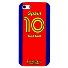 バンデル iphone ケース ワールドフットボール 5/5S スペイン