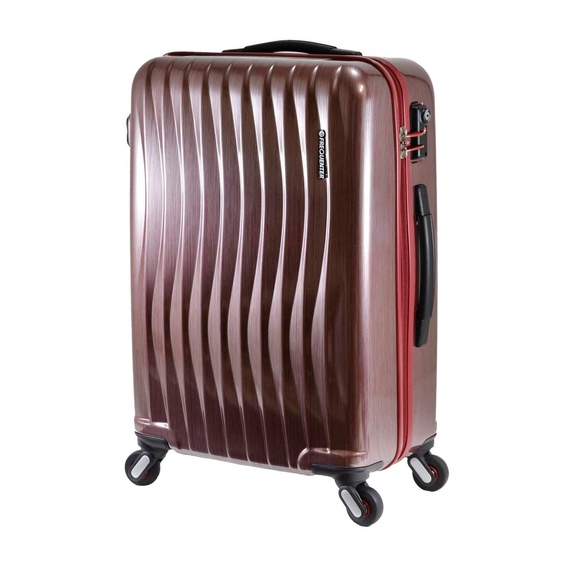 【SAC'S BAR】FREQUENTER フリクエンター WAVE スーツケース 1-622-47 47cm ヘアラインレッド メンズ