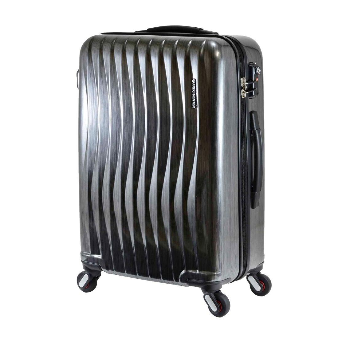 【SAC'S BAR】FREQUENTER フリクエンター WAVE スーツケース 1-621-58 58cm ヘアラインブラック メンズ