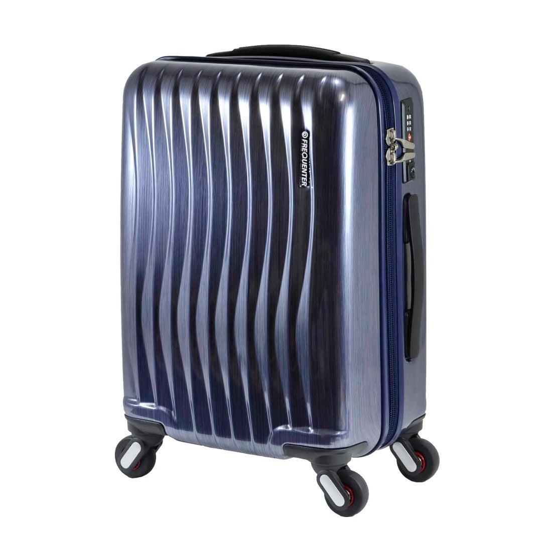 【SAC'S BAR】FREQUENTER フリクエンター WAVE スーツケース 1-621-58 58cm ヘアラインネイビー メンズ