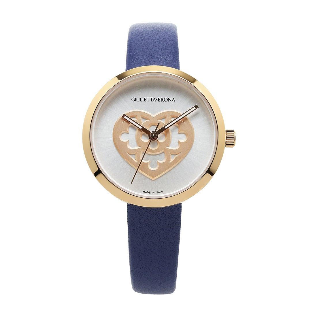 【SAC'S BAR】ジュリエッタヴェローナ GIULIETTAVERONA 腕時計 GV001 LOVE MEMORY シルバー×ネイビー
