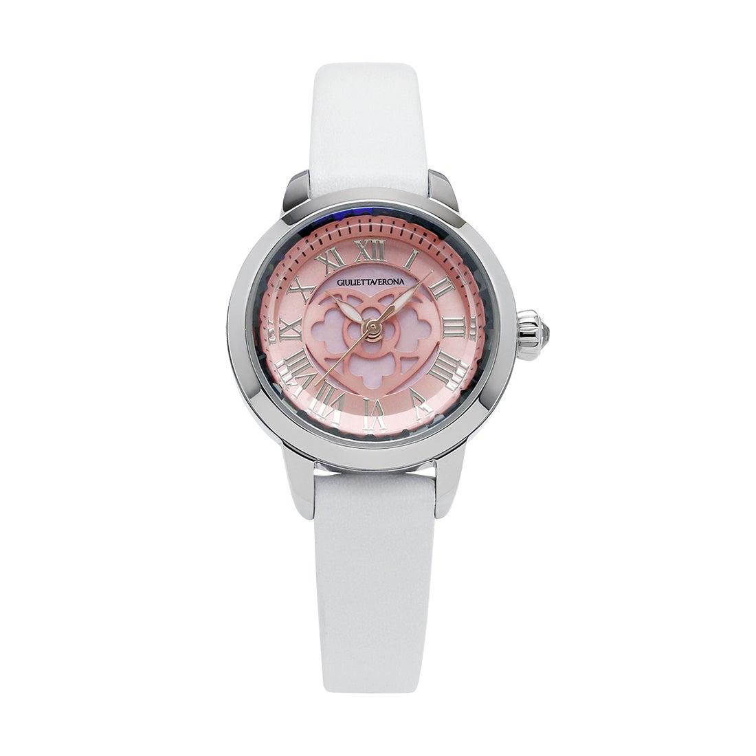 【SAC'S BAR】ジュリエッタヴェローナ GIULIETTAVERONA 腕時計 GV003 LOVE VERONA ピンク×ホワイト