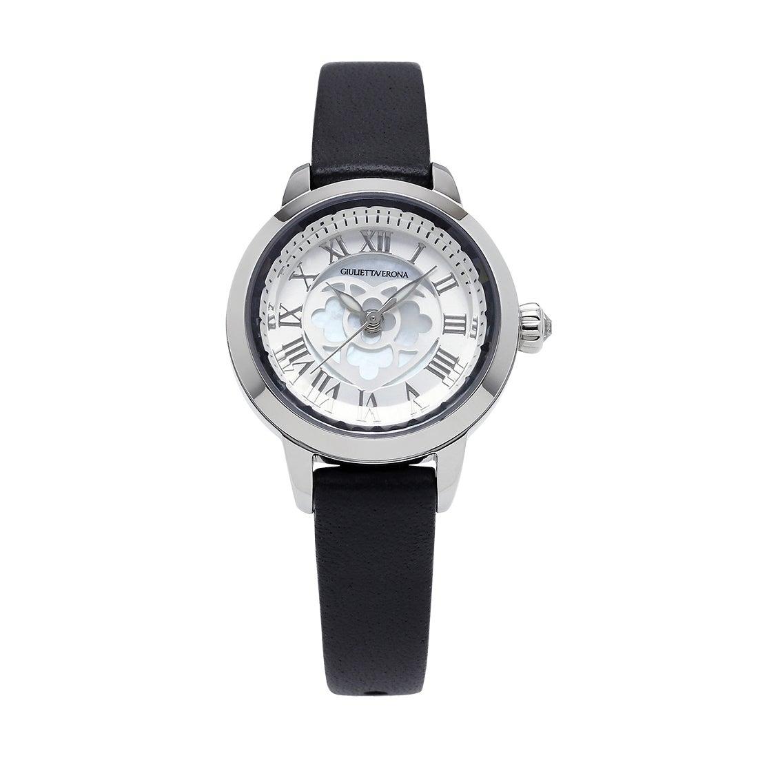 【SAC'S BAR】ジュリエッタヴェローナ GIULIETTAVERONA 腕時計 GV003 LOVE VERONA シルバー×ブラック