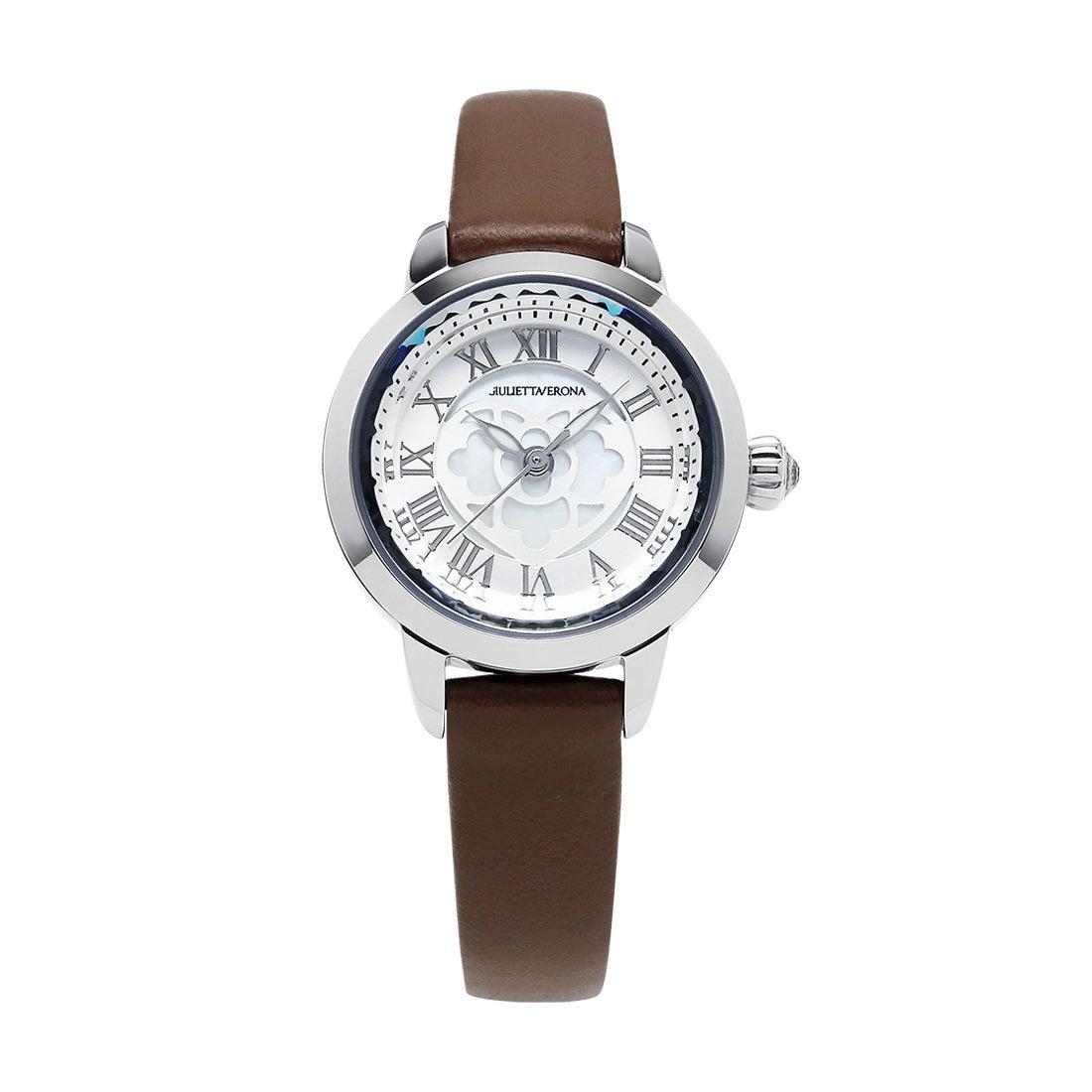 【SAC'S BAR】ジュリエッタヴェローナ GIULIETTAVERONA 腕時計 GV003 LOVE VERONA シルバー×ブラウン