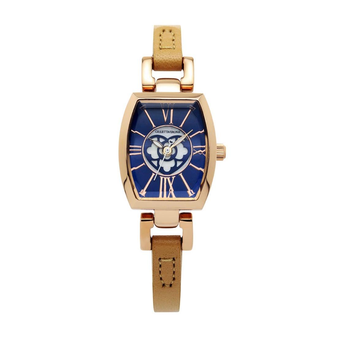 【SAC'S BAR】ジュリエッタヴェローナ GIULIETTAVERONA 腕時計 GV006 LOVE VERONA ネイビー×ライトブラウン
