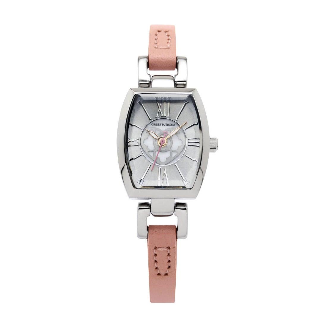 【SAC'S BAR】ジュリエッタヴェローナ GIULIETTAVERONA 腕時計 GV006 LOVE VERONA シルバー×ピンク
