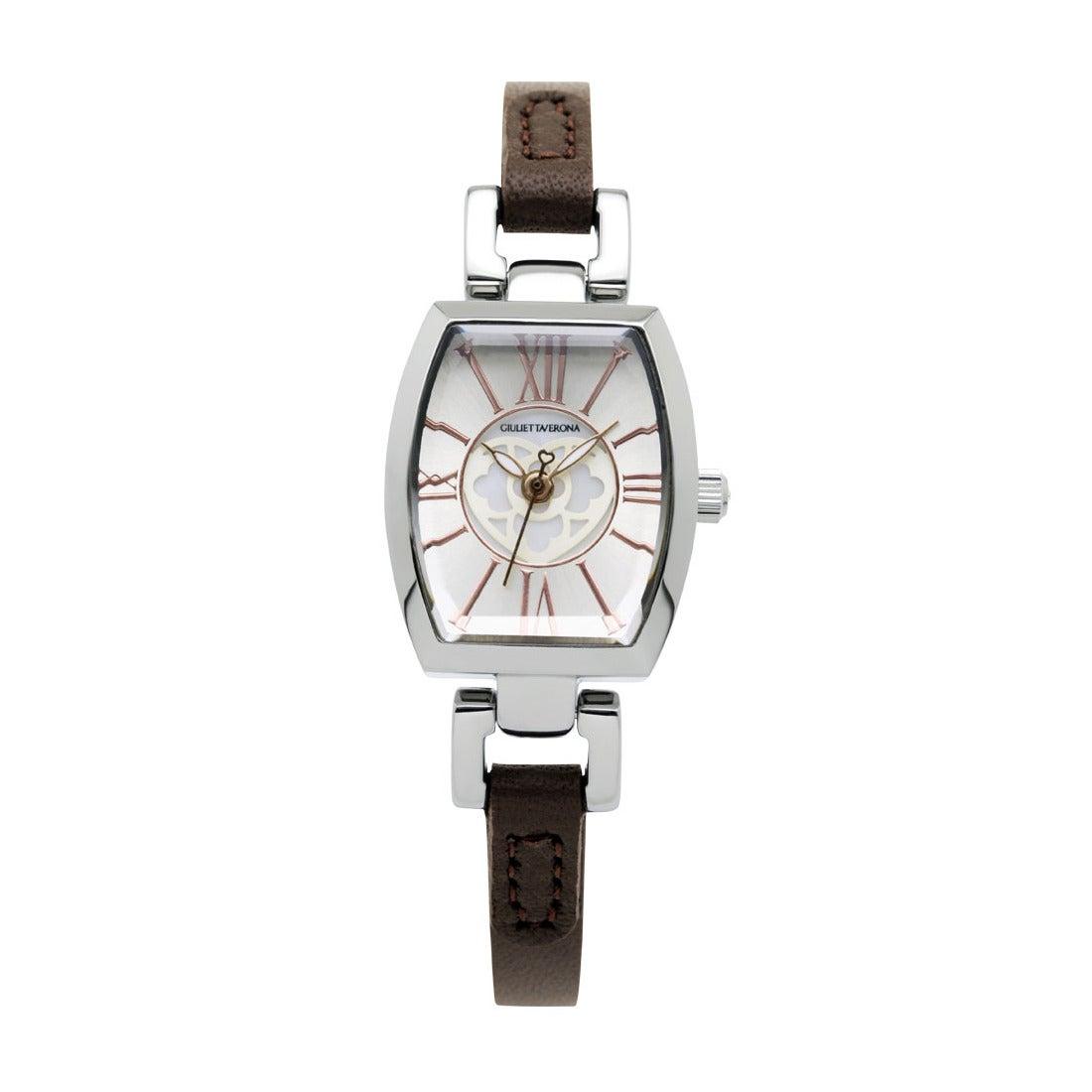 【SAC'S BAR】ジュリエッタヴェローナ GIULIETTAVERONA 腕時計 GV006 LOVE VERONA シルバー×ブラウン