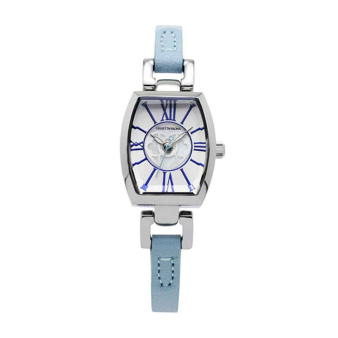 【SAC'S BAR】ジュリエッタヴェローナ GIULIETTAVERONA 腕時計 GV006 LOVE VERONA シルバー×ライトブルー
