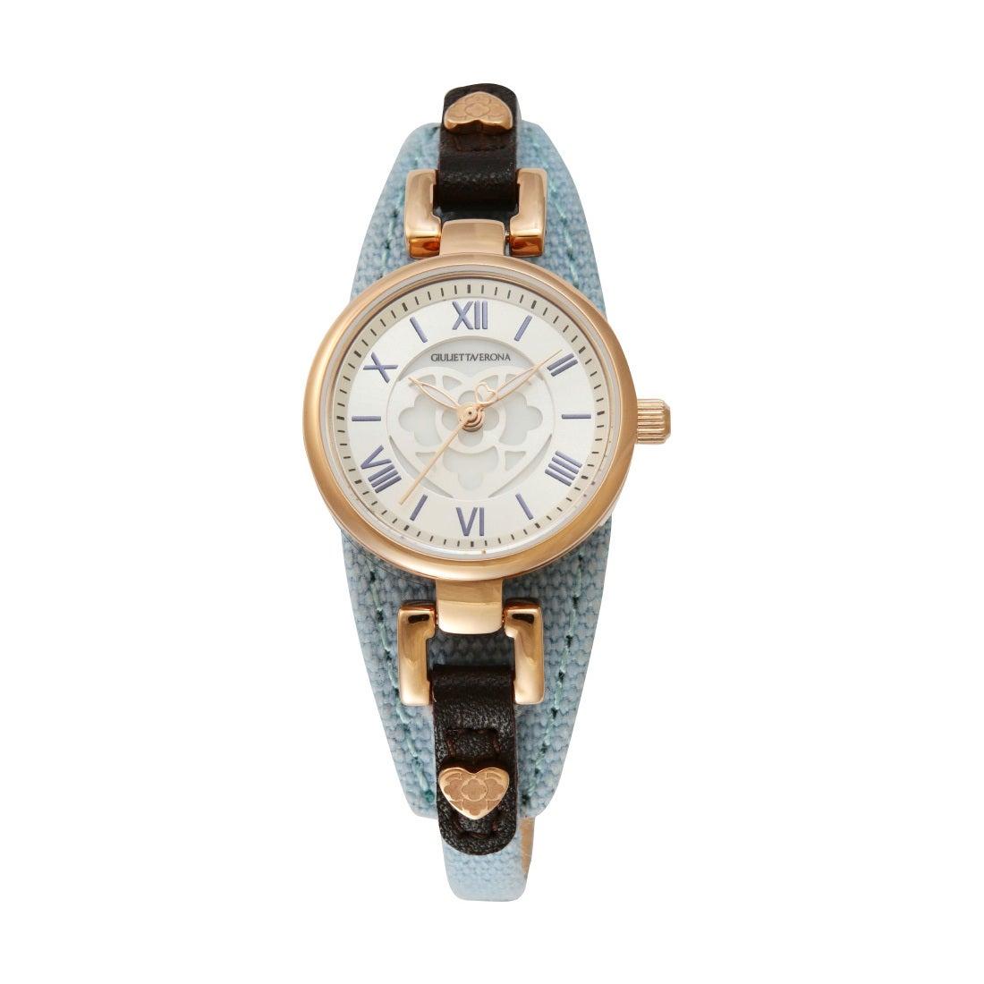 【SAC'S BAR】ジュリエッタヴェローナ GIULIETTAVERONA 腕時計 GV005 PRIMA DONNA シルバー×ライトブルー