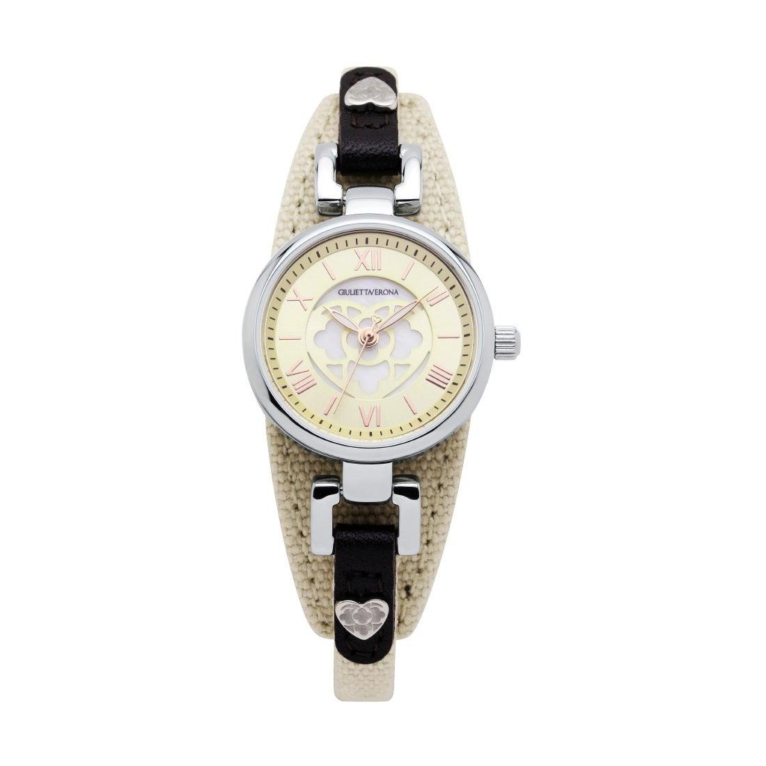 【SAC'S BAR】ジュリエッタヴェローナ GIULIETTAVERONA 腕時計 GV005 PRIMA DONNA アイボリー×アイボリー