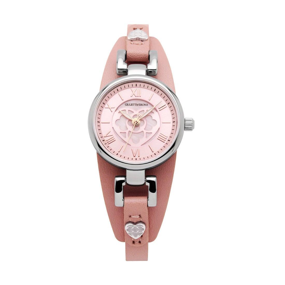 【SAC'S BAR】ジュリエッタヴェローナ GIULIETTAVERONA 腕時計 GV005 PRIMA DONNA シルバー×ピンク