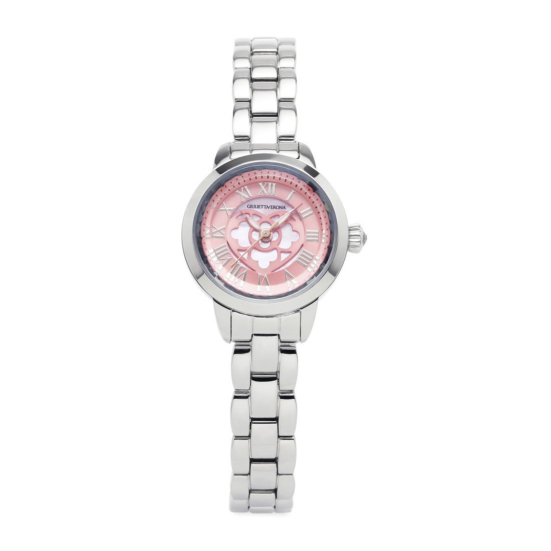 【SAC'S BAR】ジュリエッタヴェローナ GIULIETTAVERONA 腕時計 GV003S LOVE VERONA ピンク×シルバー