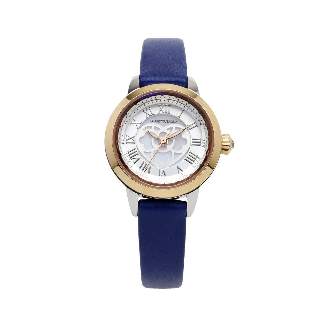 【SAC'S BAR】ジュリエッタヴェローナ GIULIETTAVERONA 腕時計 GV003TS LOVE VERONA シルバー×ネイビー