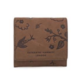 【SAC'S BAR】キャサリンハムネット KATHARINE HAMNETT 二つ折り財布 KHP-362 【70】ブラウン