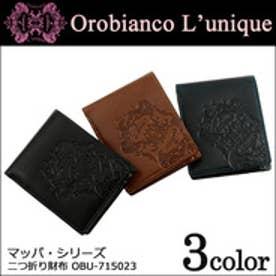 【SAC'S BAR】オロビアンコ 二つ折り財布 ユニーク ルニーク マッパシリーズ OBU-715023 【41】ネイビー