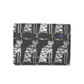 【SAC'S BAR】ポールアンドジョーシスター PAUL&JOE SISTER カードケース PJS-W083 キャットモチーフ2 ブラック