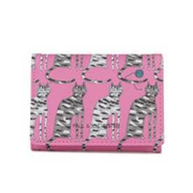 【SAC'S BAR】ポールアンドジョーシスター PAUL&JOE SISTER カードケース PJS-W083 キャットモチーフ2 ピンク