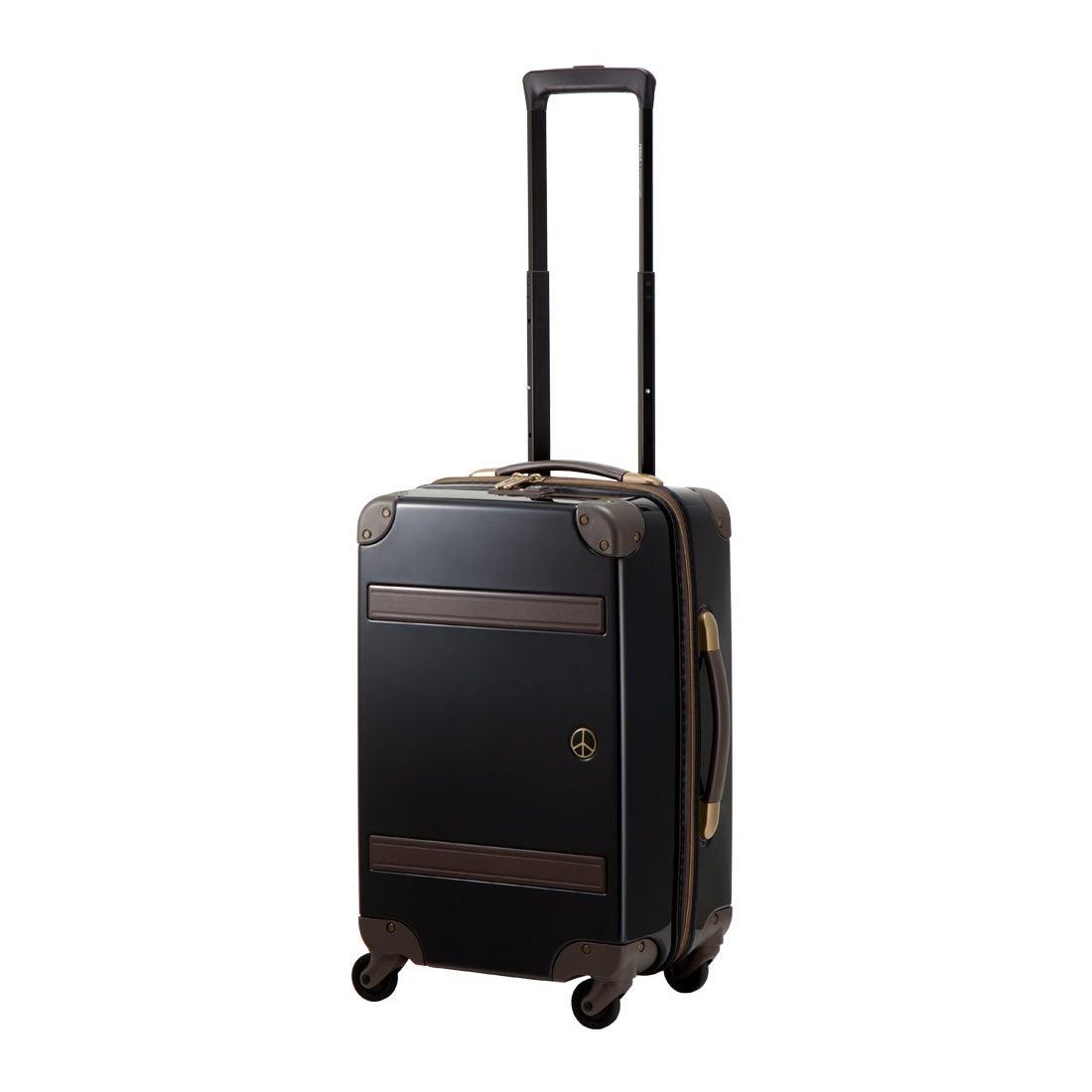 【SAC'S BAR】プラスワン スーツケース PEACE×Passenger 8170-49 49cm ピアノブラック メンズ