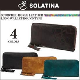 【SAC'S BAR】SOLATINA ソラチナ 長財布 38153 焦げ加工ホースレザー ラウンドファスナー ロングウォレット BLACK