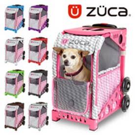 【SAC'S BAR】ZUCA ZuZUCA ペット キャリーバッグ Houndtooth Pink 150102 Grey