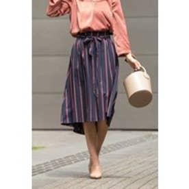 [WEB限定商品]マルチストライプフィッシュテールスカート ネイビー