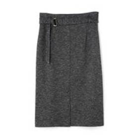 コットンウールジャージースカート ブラック1