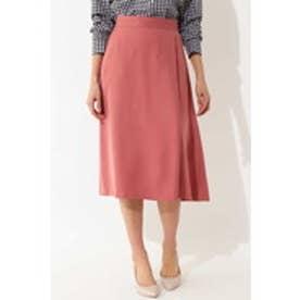 [WEB限定商品][ウォッシャブル]ラップフレアスカート ピンク