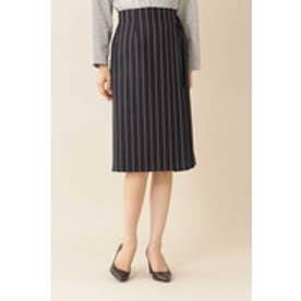 ◆[洗える]TRストライプスカート ネイビーストライプ1