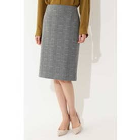 ◆大きいサイズ・セレモニー対応◆グレンチェックジャカードスカート グレー