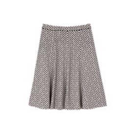 ◆大きいサイズ◆リップスティックプリントフレアスカート◆ グレー