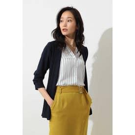 ◆ドラマ 瀬戸朝香さん着用◆[ウォッシャブル]マットサテンジャケット ネイビー