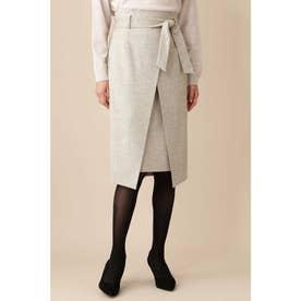 《B ability》ネップツィードスカート グレーツィード1