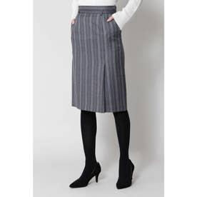 ◆ランダムストライプスカート グレー1