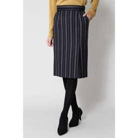 ◆ランダムストライプスカート ネイビー1