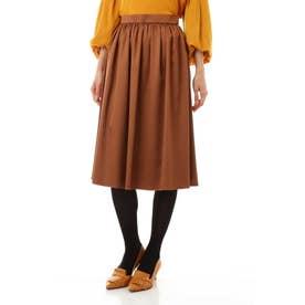 トリアセエンボススカート キャメル4