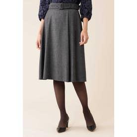 ELANツィードスカート ブラック×ホワイト1