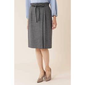 ◆ウールジャージセットアップスカート グレー