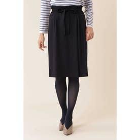 ◆ウールジャージセットアップスカート ネイビー