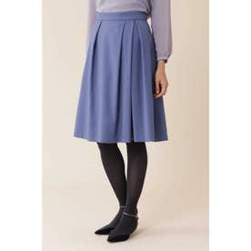 ◆トラッカーツイルタックフレアカラースカート ブルー