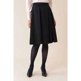 ◆トラッカーツイルタックフレアカラースカート ネイビー