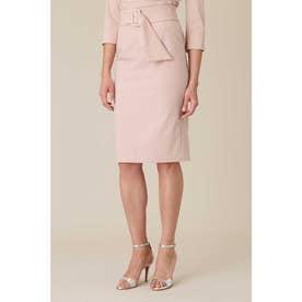 サッシュベルト付きセットアップスカート ピンク