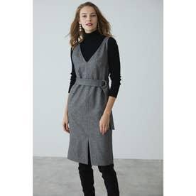 ◆ウールヘリンボーンジャンパースカート ヘリンボン1
