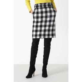 ◆ウールヘリンボーンジャンパースカート ホワイト1