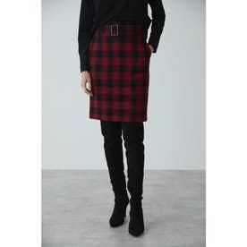 ◆ウールヘリンボーンジャンパースカート レッド1