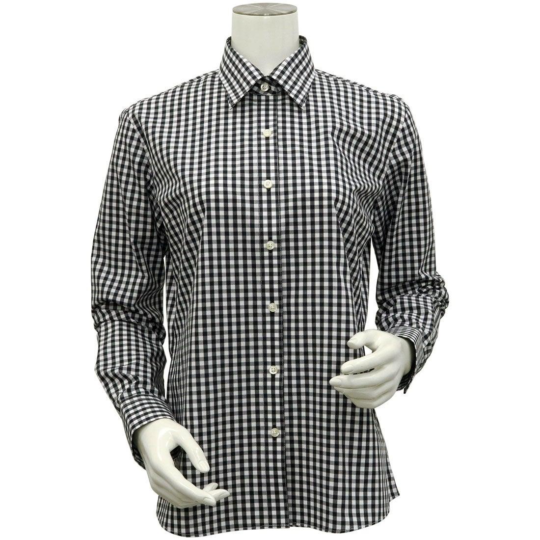 トーキョーシャツ TOKYO SHIRTS 形態安定ノーアイロン レギュラー衿 長袖ビジネスワイシャツ (ブラック)