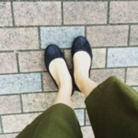 【ガマンしない靴】クレア CREA フラット (ブラック)【雑誌CREAコラボ商品】