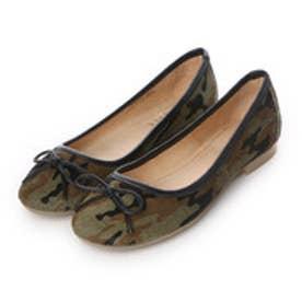 【ガマンしない靴】クレア CREA フラットシューズ (カモフラ)【雑誌CREAコラボ商品】